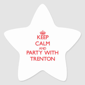 Keep calm and Party with Trenton Star Sticker