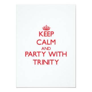 Keep Calm and Party with Trinity 5x7 Paper Invitation Card