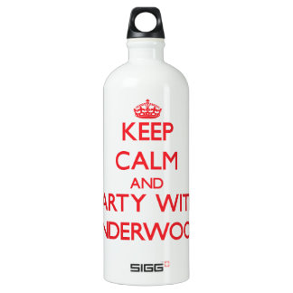 Keep calm and Party with Underwood SIGG Traveler 1.0L Water Bottle