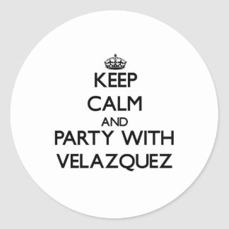 Keep calm and Party with Velazquez Sticker
