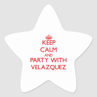 Keep calm and Party with Velazquez Star Sticker