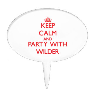 Keep calm and Party with Wilder Cake Topper