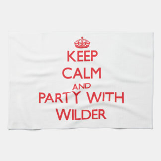 Keep calm and Party with Wilder Hand Towels