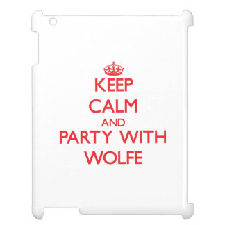 Keep calm and Party with Wolfe iPad Cover