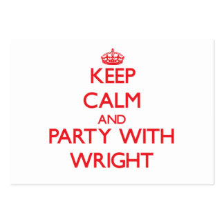 Keep calm and Party with Wright Large Business Cards (Pack Of 100)