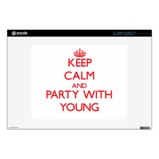 """Keep calm and Party with Young 12"""" Laptop Skins"""