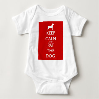Keep calm and Pat the Dog! Baby Bodysuit