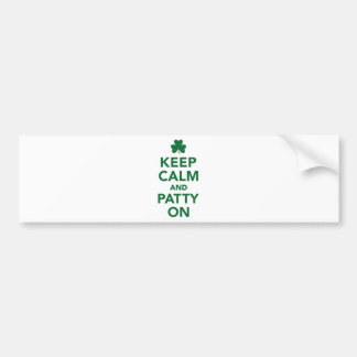 Keep calm and patty on bumper sticker