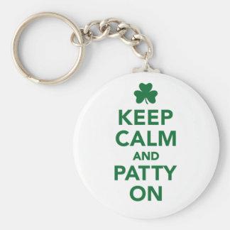 Keep calm and patty on keychain