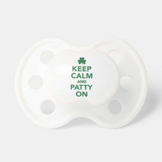 Keep calm and patty on pacifier