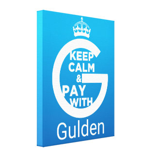 Keep Calm and Pay With Gulden Canvas Print