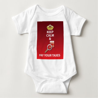 Keep Calm and Pay Your Taxes vector Baby Bodysuit