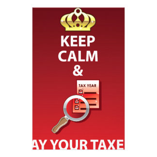 Keep Calm and Pay Your Taxes vector Stationery