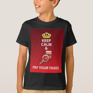 Keep Calm and Pay Your Taxes vector T-Shirt