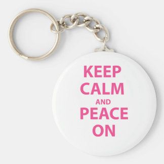 Keep Calm and Peace On Keychain