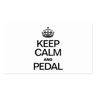 KEEP CALM AND PEDAL BUSINESS CARDS