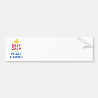 KEEP CALM and PEDAL HARDER Bumper Sticker