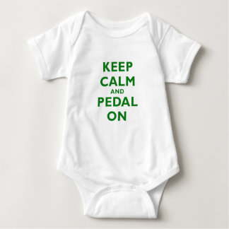 Keep Calm and Pedal On Baby Bodysuit