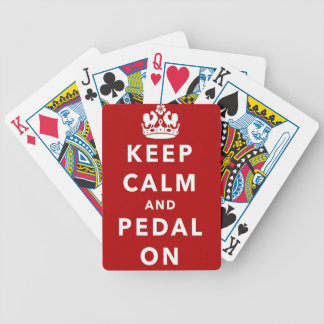 Keep Calm and Pedal On Bicycle Playing Cards