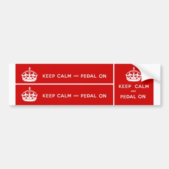 Keep Calm and Pedal On Bumper Sticker