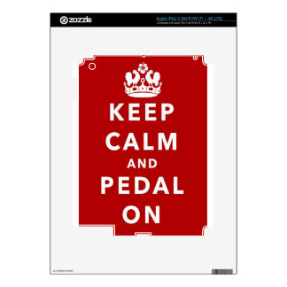 Keep Calm and Pedal On iPad 3 Decals