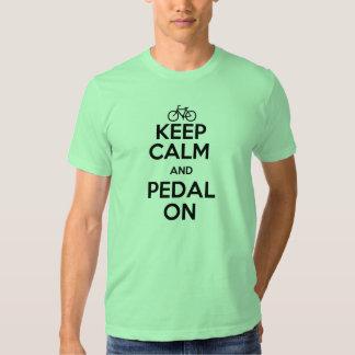 Keep calm and pedal on tee shirt