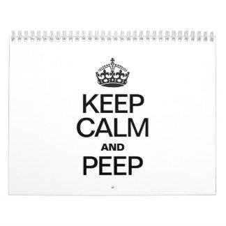 KEEP CALM AND PEEP CALENDAR
