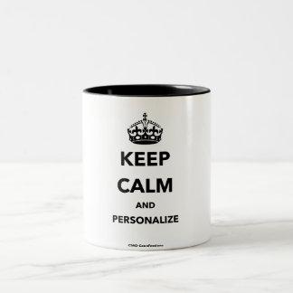 Keep Calm and personalize mug