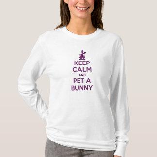 Keep Calm and Pet a Bunny T Shirt
