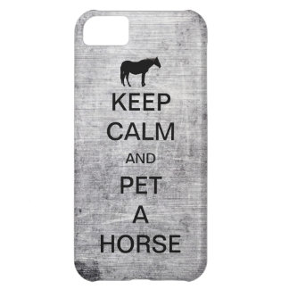 Keep Calm and Pet A Horse iPhone 5 Case