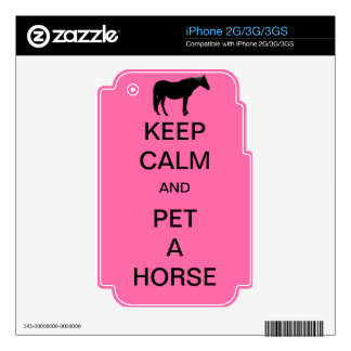 Keep Calm and Pet A Horse iPhone 3 Skin