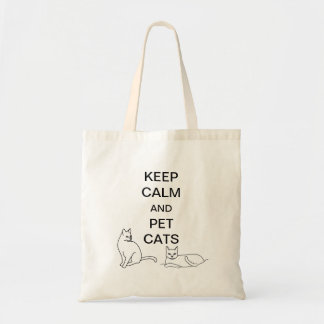 Keep Calm and Pet Cats Canvas  Bags