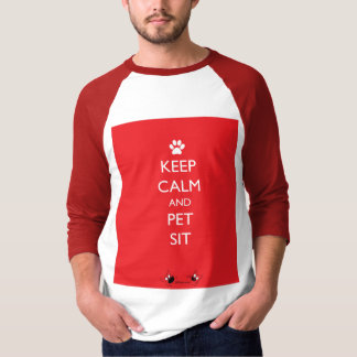 Keep Calm and Pet Sit White Paw T-Shirt