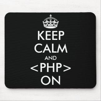 Keep Calm and PHP on Mousepad   Geeky humor