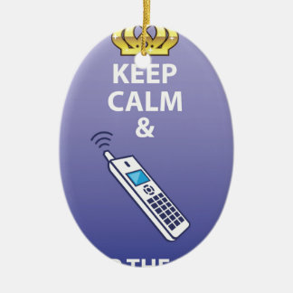 Keep Calm and Pick Up the Phone vector Ceramic Ornament