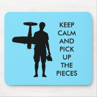 Keep calm and pick up the pieces mouse pad