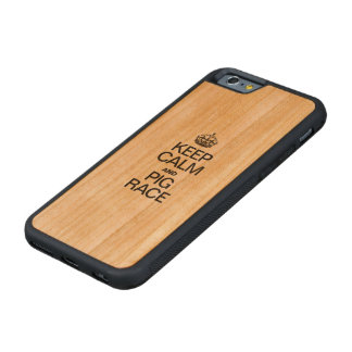 KEEP CALM AND PIG RACE CARVED® CHERRY iPhone 6 BUMPER CASE