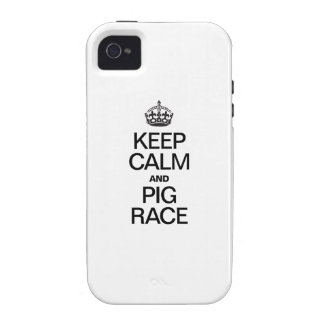 KEEP CALM AND PIG RACE VIBE iPhone 4 COVERS