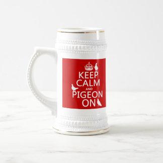 Keep Calm and Pigeon On - all colors Mug