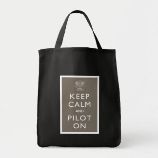Keep Calm and Pilot On Steampunk Dirigible - Slate Canvas Bag