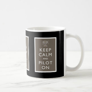 Keep Calm and Pilot On Steampunk Dirigible - Slate Coffee Mug