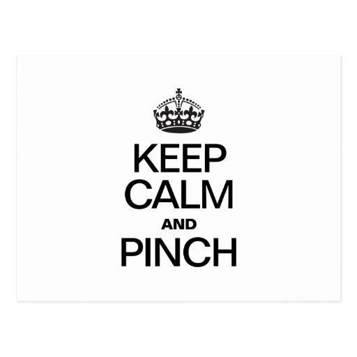 KEEP CALM AND PINCH POST CARD