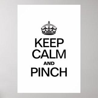 KEEP CALM AND PINCH PRINT