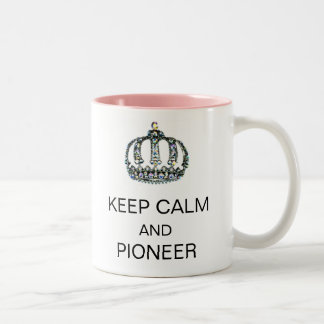 KEEP CALM AND PIONEER Two-Tone COFFEE MUG