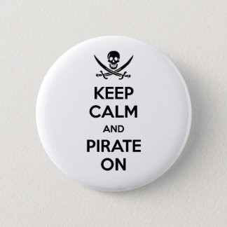 Keep Calm and Pirate On Button
