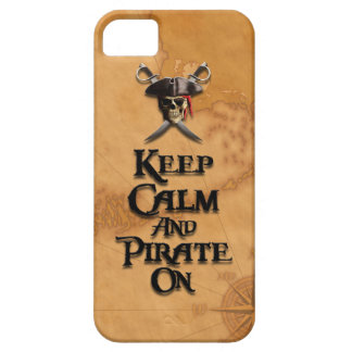 Keep Calm And Pirate On iPhone 5 Case