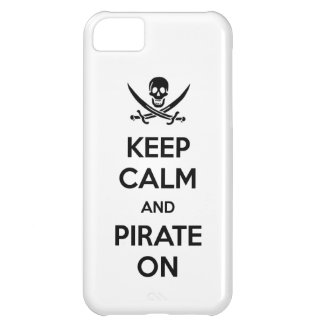 Keep Calm and Pirate On iPhone 5C Covers
