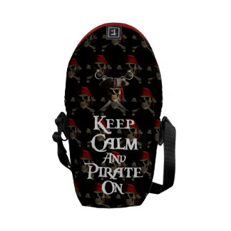 Keep Calm And Pirate On Courier Bag