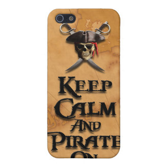 Keep Calm And Pirate On Cases For iPhone 5