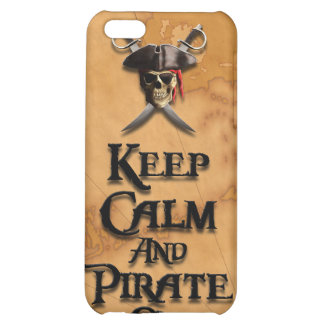 Keep Calm And Pirate On Cover For iPhone 5C